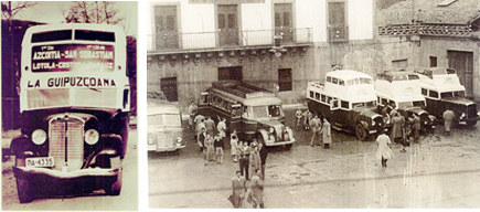 Parada de autobuses antigua