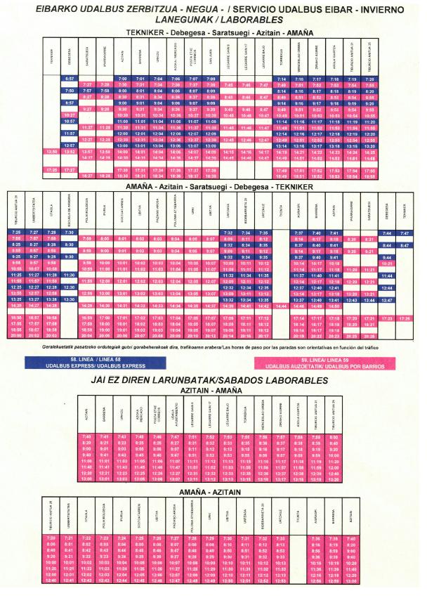 Eibar horario euskotren